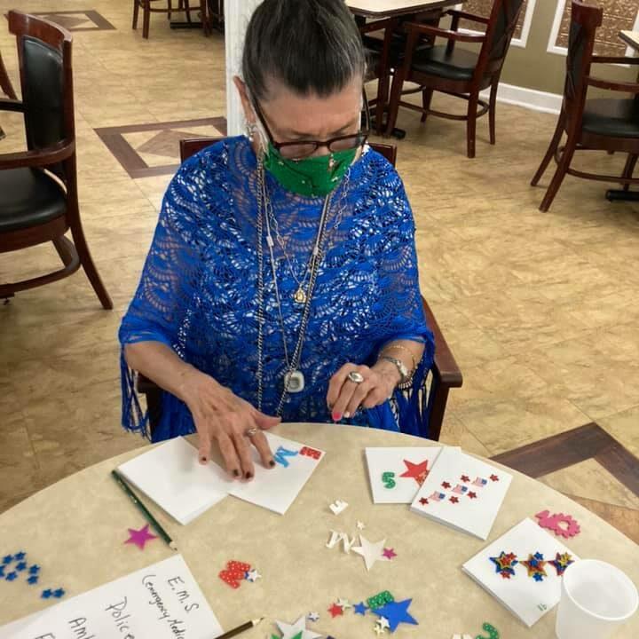 Autumn Ridge Residences | Senior scrapbooking activity
